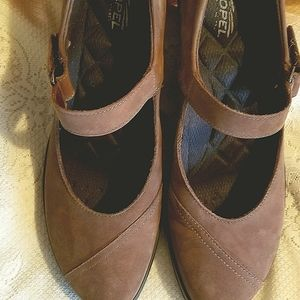 HOTTER TAUPE SUEDE MARY JANES